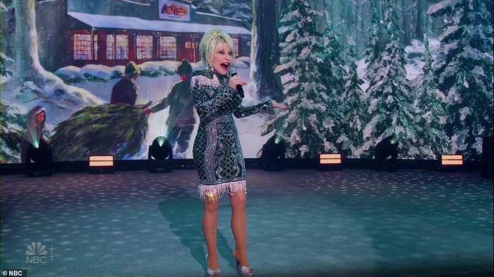 Dolly Parton performed for the televised event but from Nashville