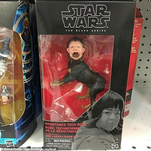 Something must have gone very, very wrong in the design process for this toy, which is supposed to be of one of the new Star Wars saga characters, Rose