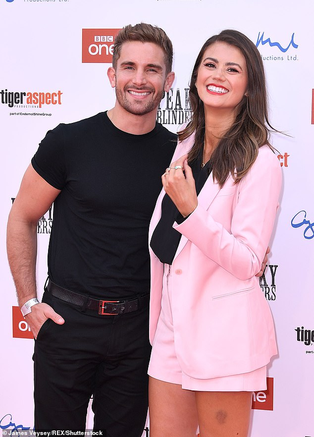 Over: Sophie Porley has revealed she quietly split from her Hollyoaks soap star beau Adam Woodward 'earlier this year' (pictured together in July 2019)