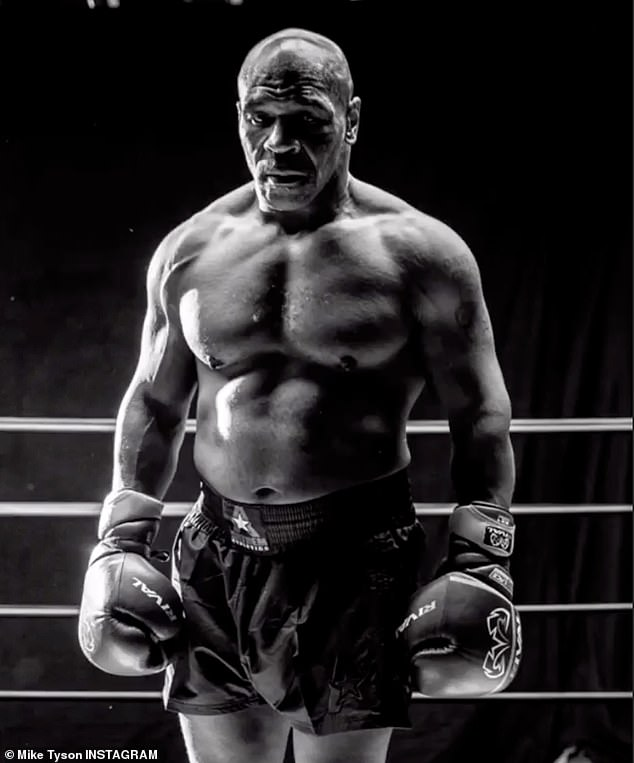 Tyson has shown off his impressive physique ahead of his return to the ring this weekend