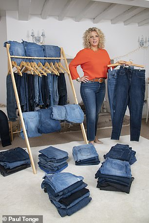 Chantal Bexon, 40, of Newthorpe, Notts, who owns over 50 pairs of jeans, says that she is still looking for the elusive perfect pair
