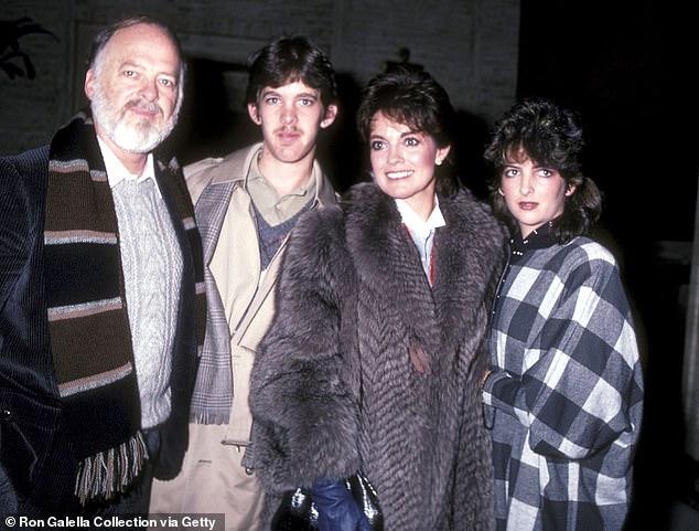 En los buenos tiempos: Gray, su esposo Ed Thrasher, su hijo Jeff Thrasher y su hija Kehly en 1982