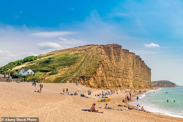 West Bay (pictured), which provided the dramatic backdrop to TV crime series Broadchurch, is the only place in England where no positive tests have been reported since March
