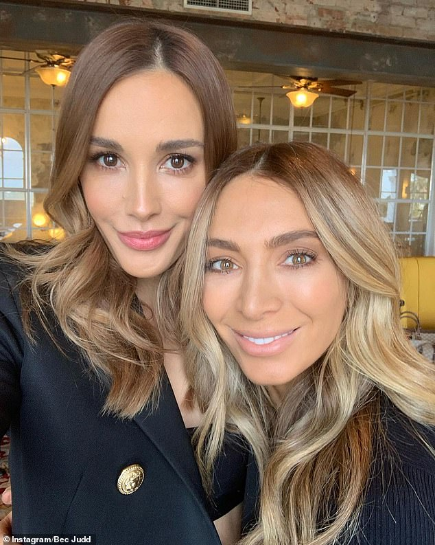 Pals: Nadia (right, with Bec Judd) told the Herald Sun that was using her time at home during Melbourne's lockdown to slow down, focus on her health and fitness, and take care of her sons