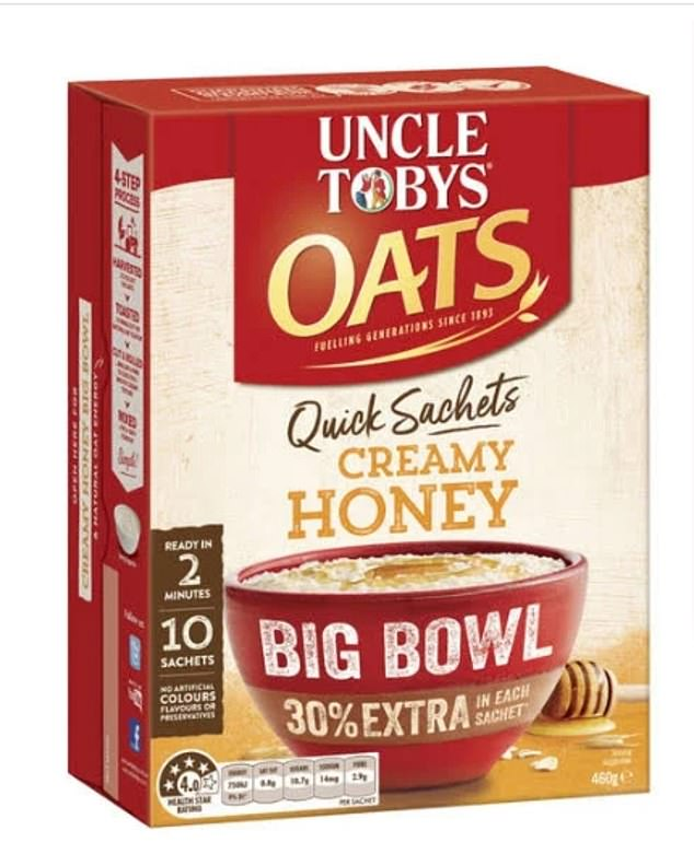 Instant oats were also on the banned list - with one woman shocked