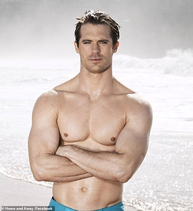 Too hot to handle: Former Home and Away star Kyle Pryor has been hard at work building a new business since returning to his native UK two years ago