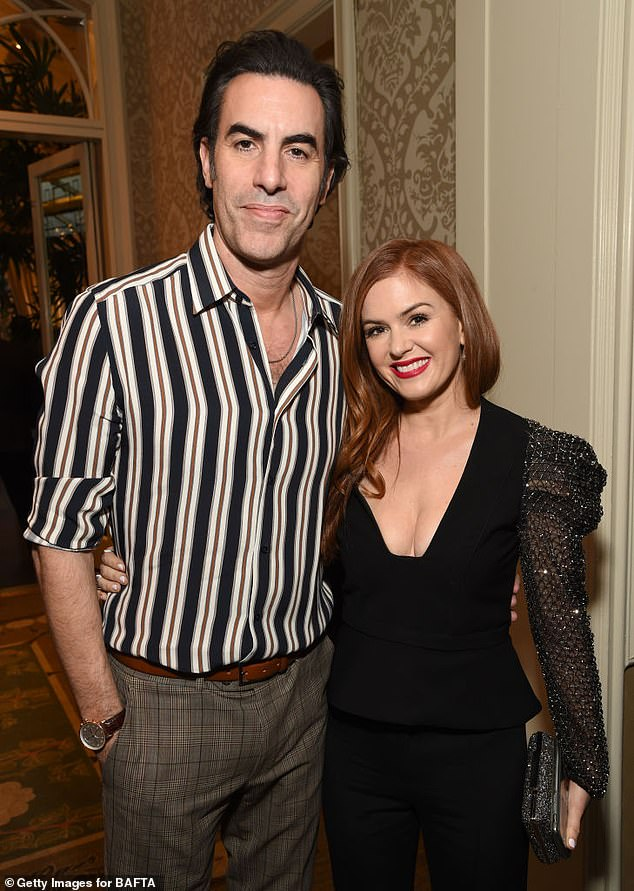Making the move:Hollywood prankster Sacha Baron-Cohen and his wife, Isla Fisher, appear to be settling in Australia full-time. Pictured on January 4, 2020, in Los Angeles