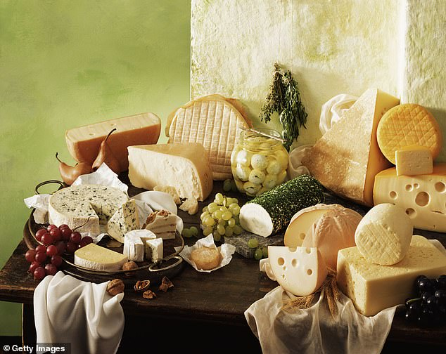 The cheeseconnoisseur said the perfect cheeseboard should always start with the mildest cheese and finish with the strongest (stock image)