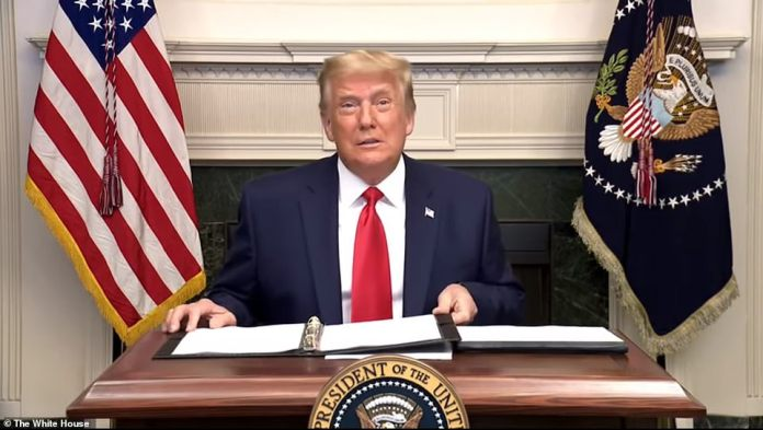 The president reiterated unproven conspiracy theories about voting machines changing votes for him to Biden, complained the election was 'rigged' and alleged Biden only got his record 80 million votes through 'massive fraud'