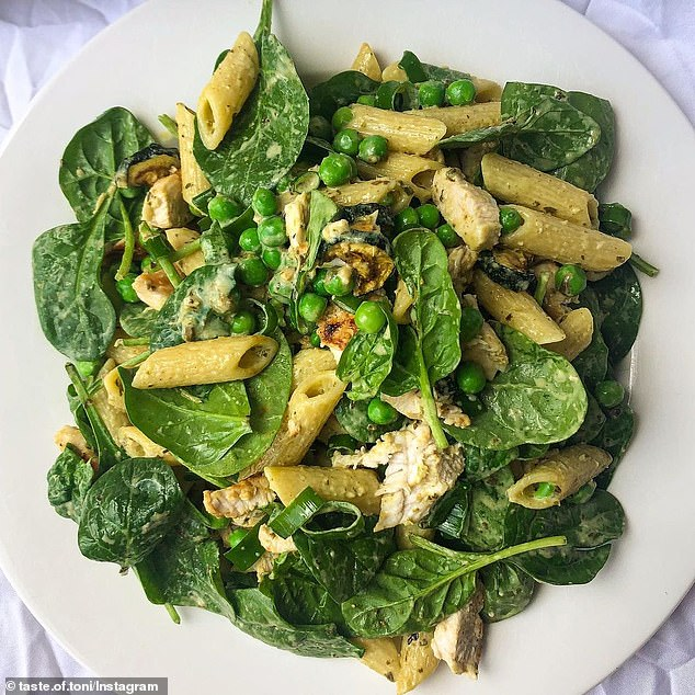 This is the easiest and best pesto pasta ever - and all the ingredients can be found at the supermarket