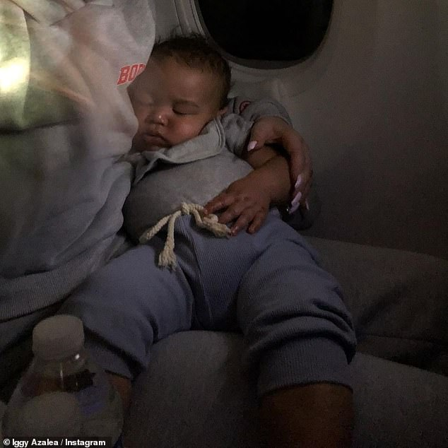 Iggy Azalea shares a rare photo of her cherubic five-month-old son Onyx