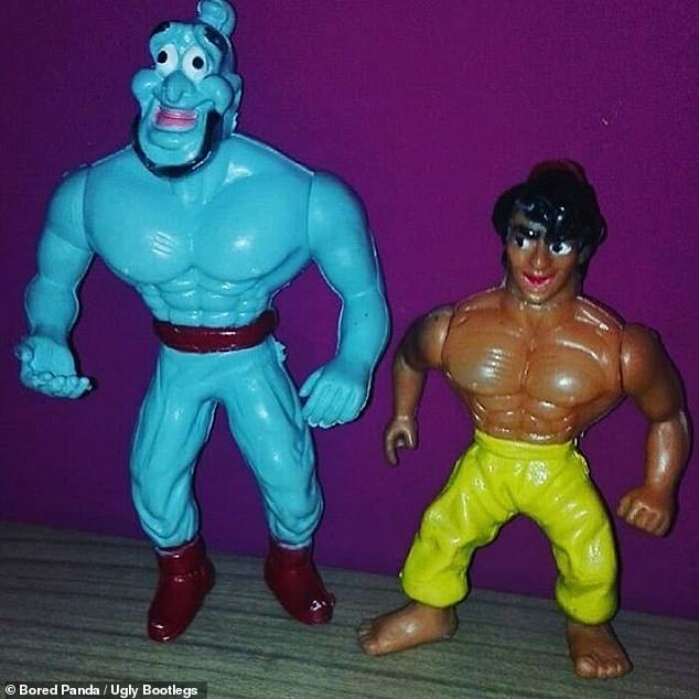 We don't want friends like them! These Aladdin figurines showing the lead character and the Genie leave a lot to be desired