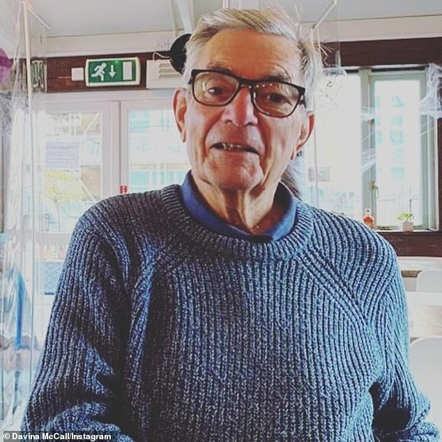 Beloved: The TV presenter took to Instagram to share a snapshot of her beloved parent as she said his 'soul is still shining through' amid 'cruel' Alzheimer's battle