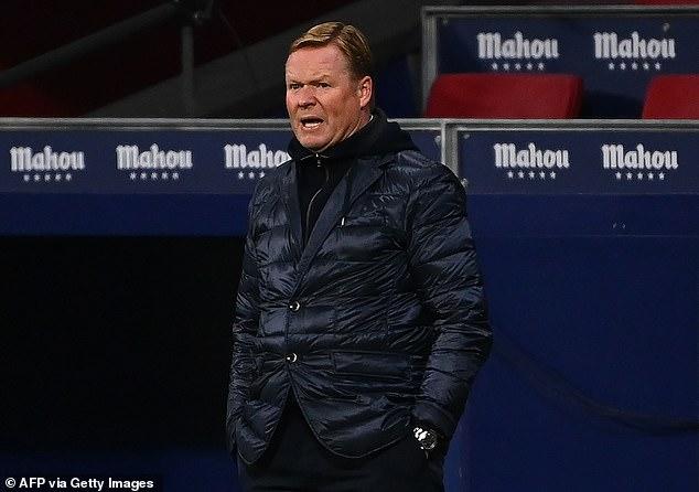 Head coach Ronald Koeman has agreed a pay-cut on his £10million salary at Barcelona