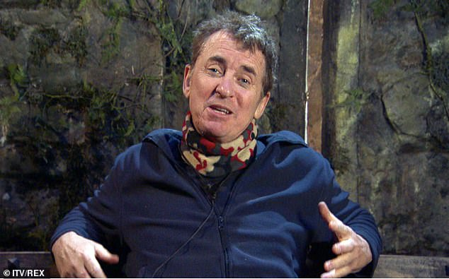 Fury:Shane Richie's son has accused I'm A Celebrity... Get Me Out of Here! bosses of 'editing the show to cause tension' amid his father's feud with AJ Pritchard (above Shane Richie)
