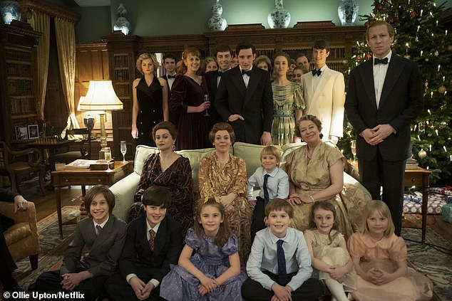 The Finding Freedom author said he had 'heard rumblings' that Netflix is discussing 'extending the series' (pictured, the royal family, including Prince William and Prince Harry, in the final episode of the fourth season)