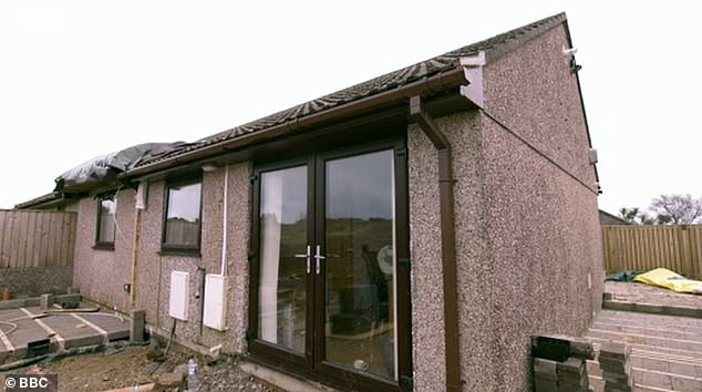 Functional: The outside of the property at the early stage of the renovation work