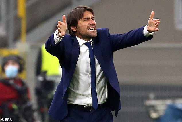 Conte is fighting to save his job at Inter after crashing out of the Champions League this week