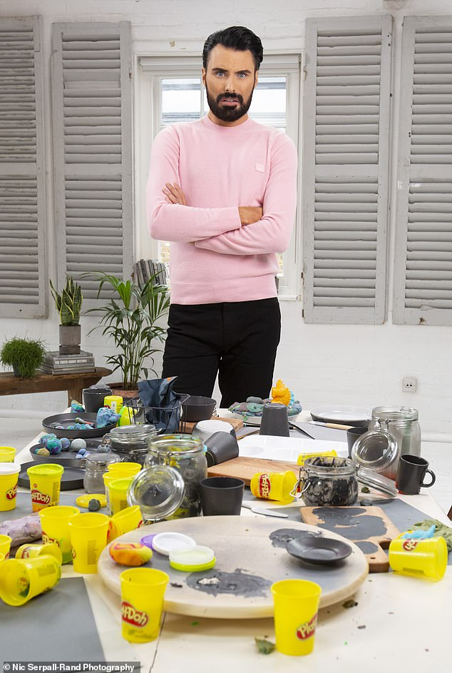'I love Play-Doh!' Rylan has teamed up with Play-Doh to launch their Colour of the Year, which is 'Nemesis Grey'