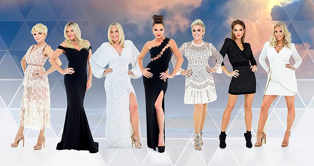 Glitzy: The Real Housewives of Jersey will follow seven glitzy women's lavish lifestyles in the little-known Channel Island (housewives L-R: Hedi Green, Jane Raynor, Margaret Thompson, Kate Taylor, Tessa Hartmann, Mia Ledbury and Ashley Cairney)