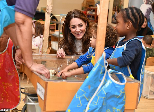 The duchess, pictured in Januaryduring a visit to London Early Years Foundation Stockwell Gardens Nursery and Pre-school, in south west London, has made early years development one of the main pillars of her public role since she first became a member of the royal family