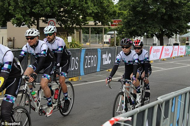 She also takes part in tandem cycling which sees vision impaired and blind people paired up with people who can see
