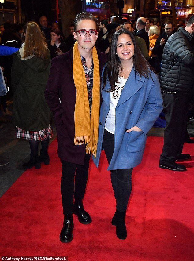 Sweethearts:The couple have been together since the tender age of 20, and first met at the Sylvia Young Theatre School aged just 13