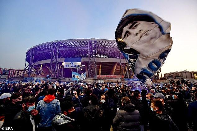 The San Paolo, Napoli's home ground, will soon be renamed theDiego Armando Maradona Stadium in his honour