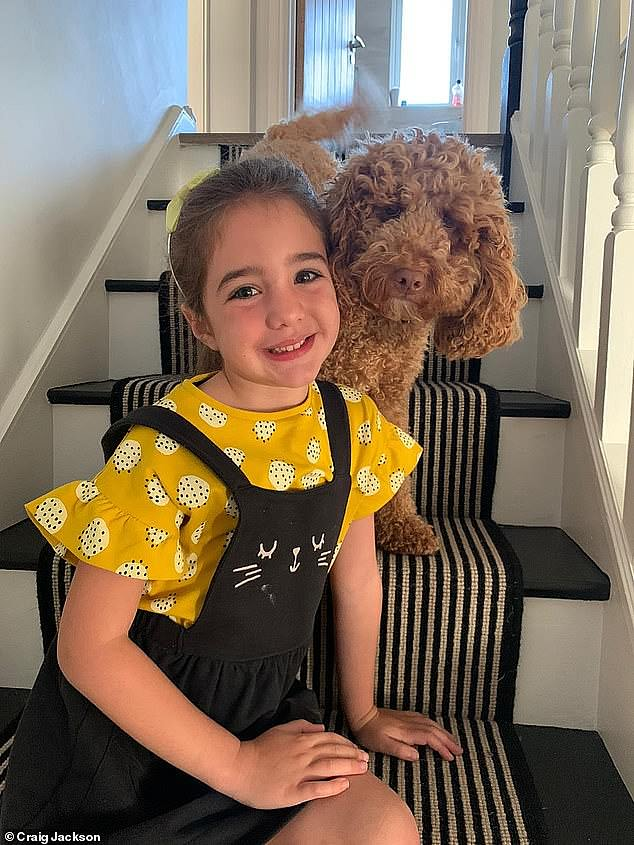 The nature of the high grade tumour means surgery to remove it is not an option as it would likely cause severe neurological damage, or worse, prove fatal, while chemotherapy has also failed to help so far. Pictured,Edie