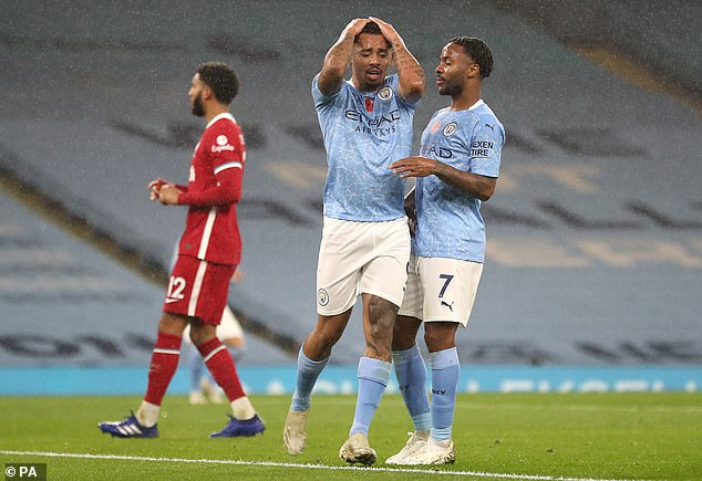 Gabriel Jesus and Raheem Sterling are part of a City side who have scored just 10 league goals
