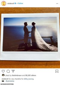 Big Mouth star Nick Kroll marries pregnant girlfriend Lily Kwong in cliffside ceremony