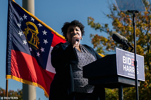 President Trump faulted Democrat Stacey Abrams for his loss in Georgia