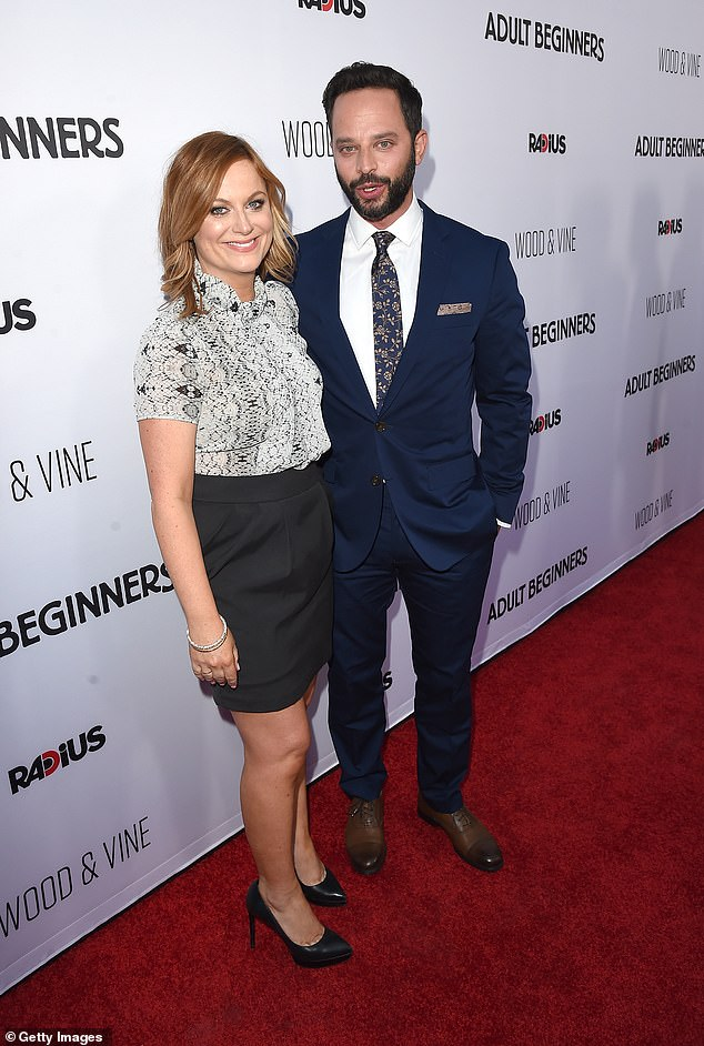 Exes: Prior to his marriage to Lily, Nick's most high-profile relationship was with comic actress Amy Poehler, whom he dated from 2013¿2015; seen in 2015 in Hollywood