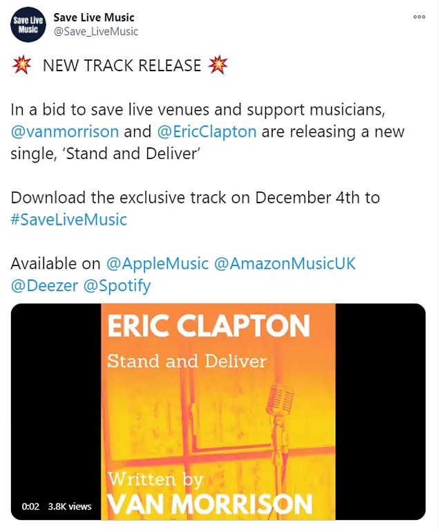 Morrison, 75, revealed on Friday that he had collaborated with the legendary guitarist, also 75, for the new track titled 'Stand and Deliver' that is due to be released on December 4