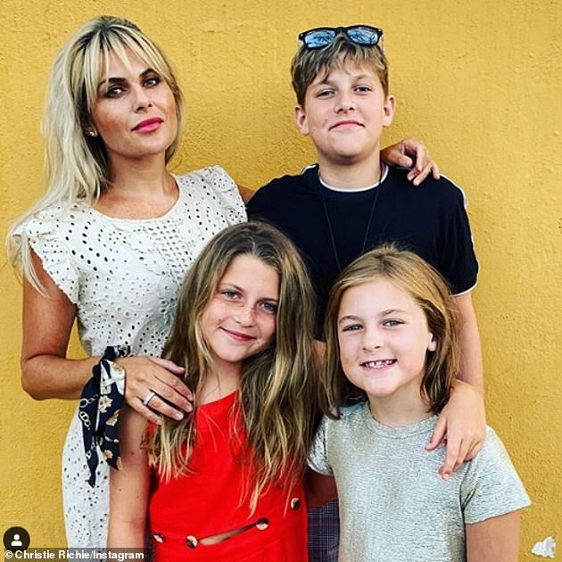 Loving dad: Shane already has three kids with Christie, Mackenzie Blue, 14, Lolita Bell, 12, and Romani-Skye Angel Shelley, nine (pictured in 2019)