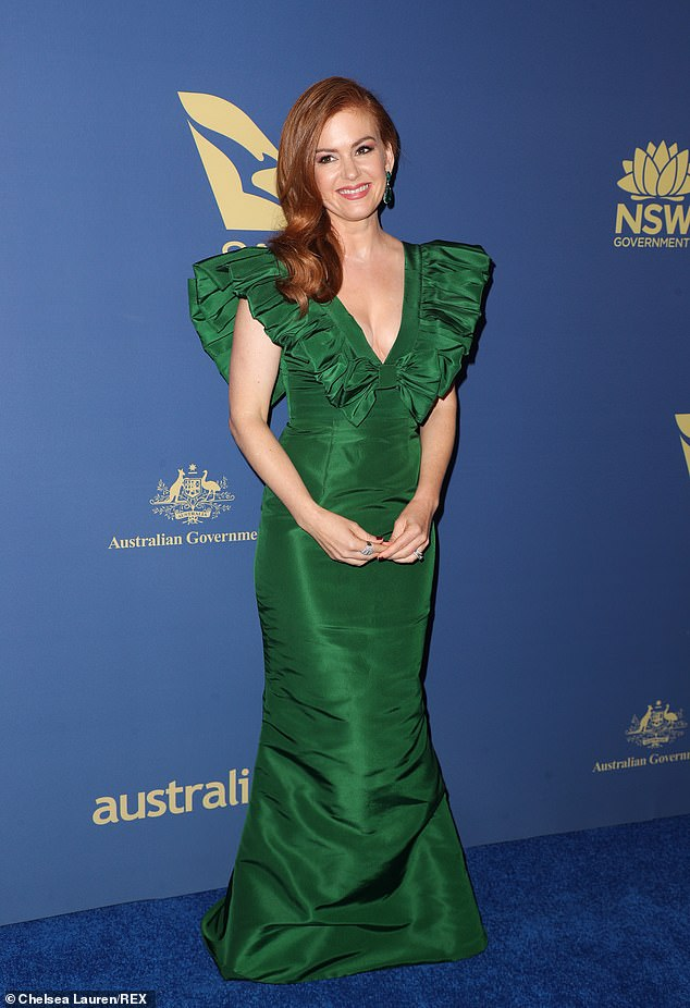 A star-studded cast!  New Netflix film - titled 'Back To The Outback' - will star Isla Fisher (pictured), Keith Urban, Eric Bana and Tim Minchin, and is described as a 'love letter' to the country