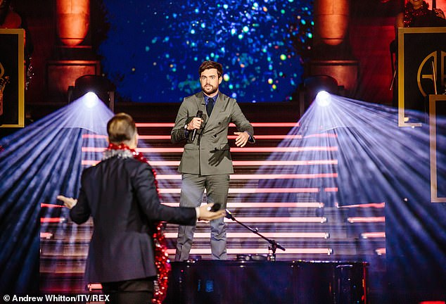 Festive: Jack Whitehall shares funny exchange with Take That frontman who was dressed in garlands