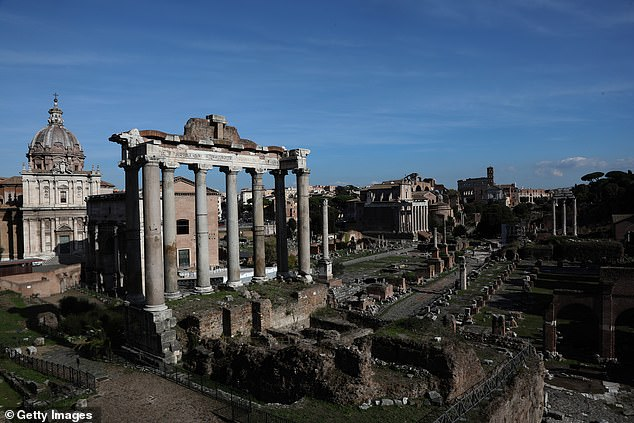 Museum officials are not sure where the artefact was taken from, although it is believed to have been slipped into the Roman Forum (above), the site of significant political activity and nuns of ancient Rome dating from 500 BC.