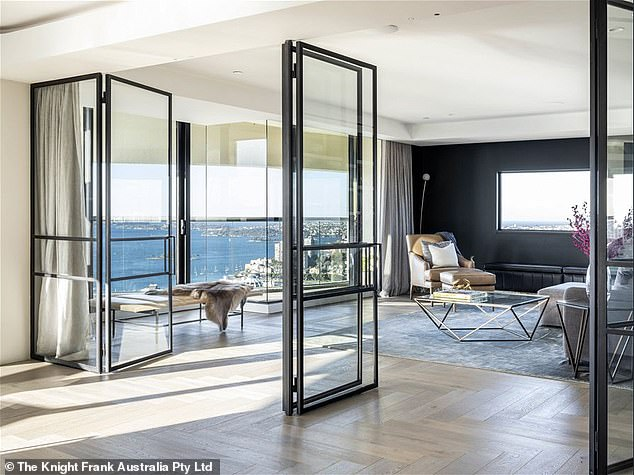 Lookouts: The selling point of the penthouse is undoubtedly its balcony, offering 360 degree views of Sydney Harbour
