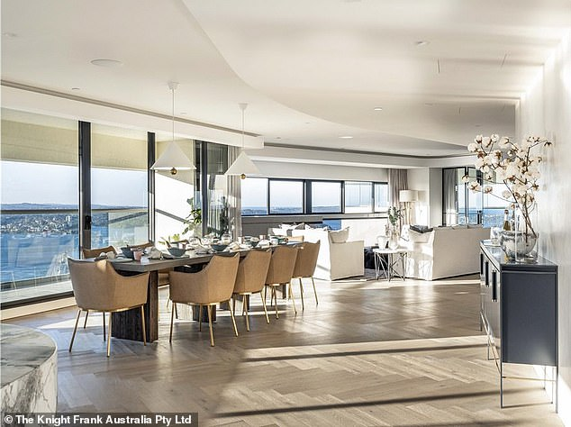 Another investment: Francesca's lavish splurge on the diamond ring comes after she purchased a $16million penthouse in Sydney's Darlinghurst (pictured)