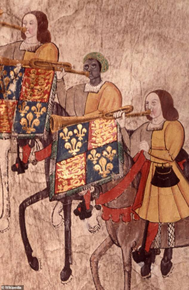 John Blanke (depicted centre) is another potential addition to the curriculum. He was a black trumpeter in the court of Henry VII and the only black Tudor of whom there is an identifiable image