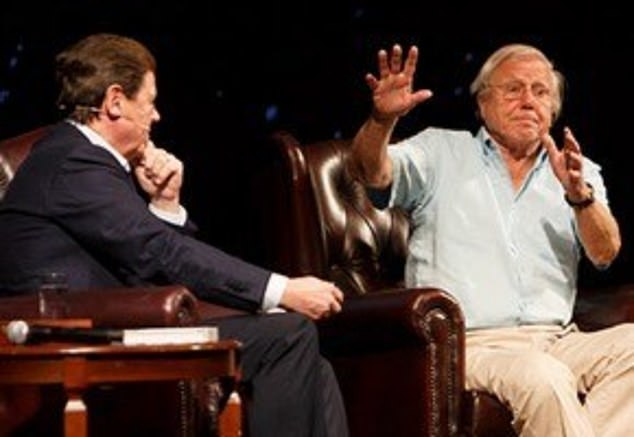 The TV star told Stellar Magazine he has what he calls his, ''holy trinity' – three of the most amazing blokes I've ever met'. They include Sir David Attenborough (left)