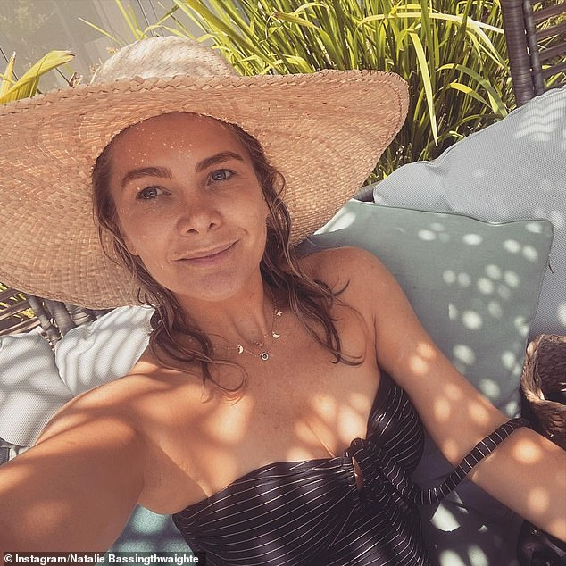 Coastal life: As reported by The Daily Telegraph this weekend, NatalieBassingthwaighte (pictured), 45, purchased a$2.15million property in Byron Bay, NSW earlier this year