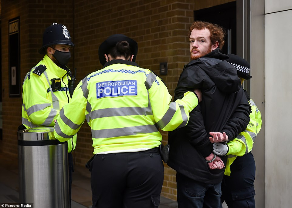 Three people in total have been arrested by the Metropolitan Police ahead of a mass anti-shutdown demonstration due to meet at King's Cross station