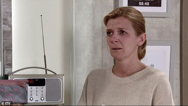 Twitter feud:Coronation Street's Jane Danson was embroiled in a Twitter clash with former co-star Vicky Entwistle, whom she branded 'disrespectful'