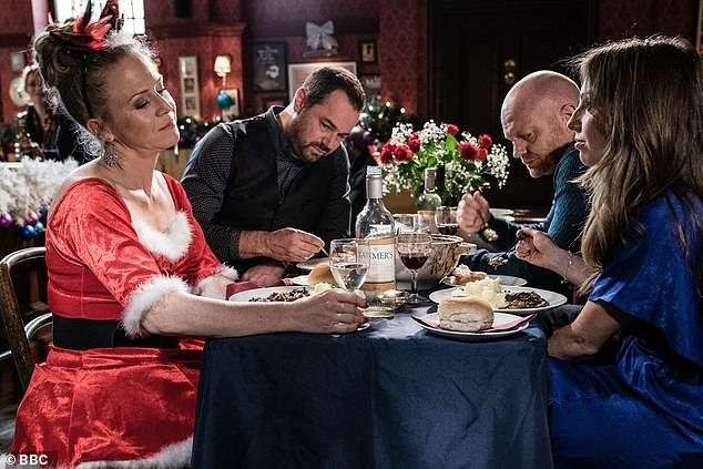 Oh dear:EastEnders bosses have promised the usual heavy dose of drama hitting Albert Square over the festive season, with Linda and Mick set to be rocked by scandal (pictured 2019)