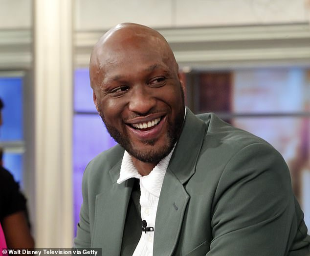 Push through: Notoriously, Odom had a colorful past with cocaine and infidelity while involved with ex-wife Khloe Kardashian as well as overdosing in 2015 where he suffered 12 seizures and six strokes cerebral