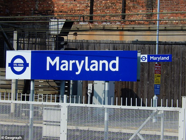 Transport for London has been urged to rename Maryland railway station (pictured) in the capital over fears of 'offensive' links to a local slave owner with plantations in the US