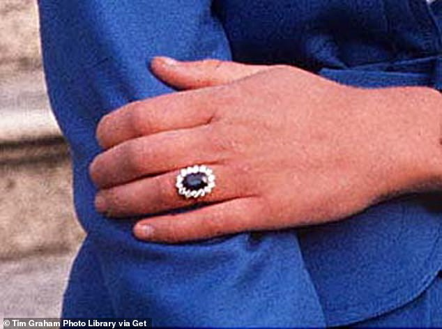Fit for a princess! Mr Kormind noted that one of the the best known engagement rings with an oval centre stone is Princess Diana's engagement ring (pictured)