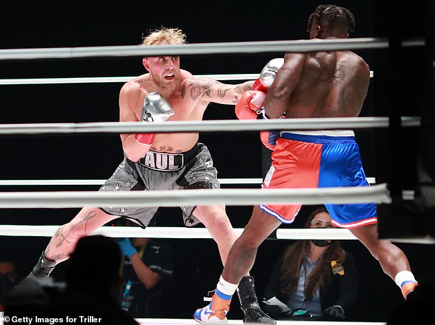 KO! Jake Pauldominated Nate Robinson in the ring Saturday, winning their undercard match in the second round with a vicious knockout, at Mike Tyson's highly-anticipated return to boxing, against Roy Jones Jr